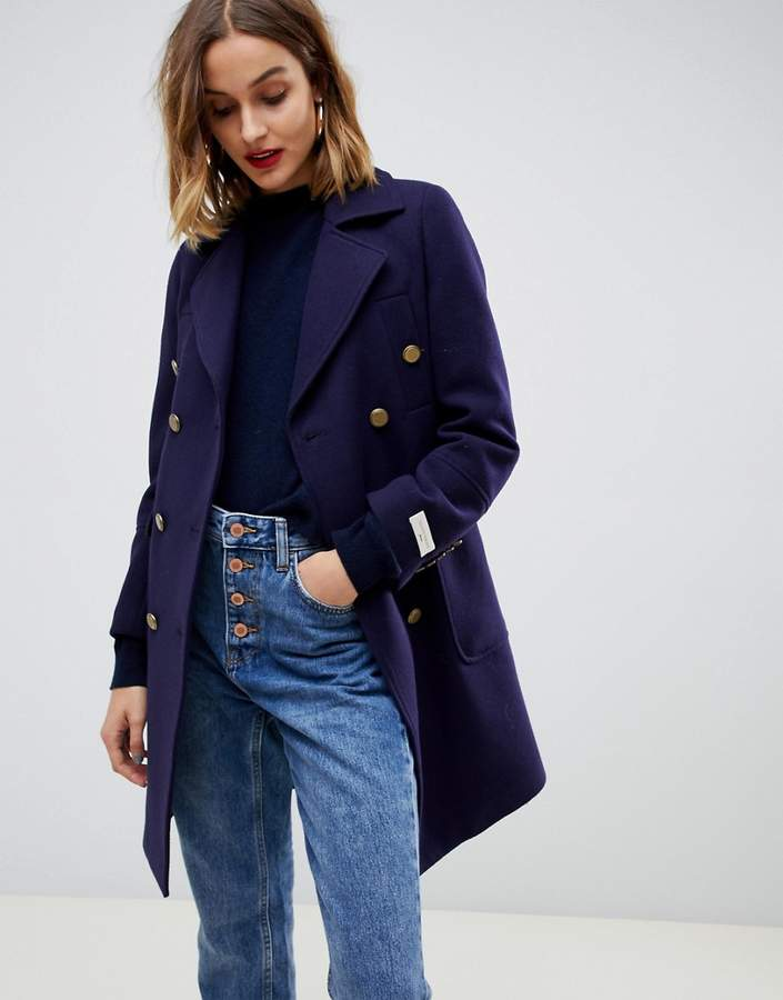 military coat with gold buttons