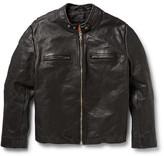 Jean Shop Textured-Leather Biker Jacket