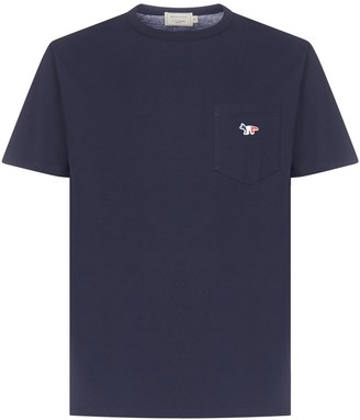 MAISON KITSUNÉ Tricolor Fox Patch T-Shirt