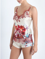 Carine Gilson Lost in Wonderland silk-satin and lace camisole