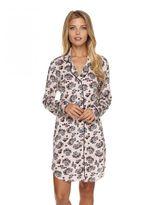 Cosabella Cadeau Sleepshirt & Mask Pajama Set