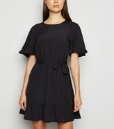 New Look Frill Sleeve Mini Dress