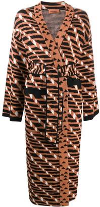 Missoni Geometric-Pattern Belted Coat