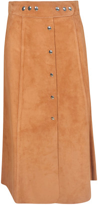Prada Buttoned Long Skirt