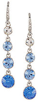 Carolee Something Blue Linear Drop Earrings