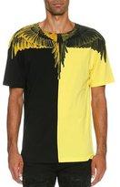 Marcelo Burlon County of Milan Naldo Colorblock Wing T-Shirt, Black/Yellow