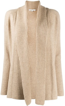 Vince Ribbed-Panel Open Front Cardigan