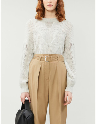 Designers Remix Cable-knit wool-blend jumper