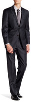 Hart Schaffner Marx Grey Pinstripe Two Button Notch Lapel Wool Suit