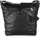 Balenciaga Black Exposed Zip Leather Day Bag