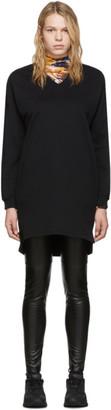 Kenzo Black Logo Sweatshirt Dress