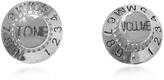 MM6 Maison Martin Margiela Metal Signature Stud Earrings