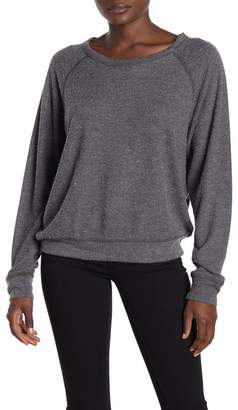 PST by Project Social T Textured Knit Raglan Sleeve Sweatshirt