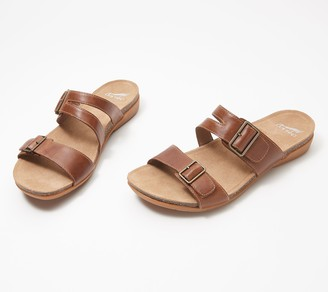 Dansko Leather Double Buckle Sandals - Rosie