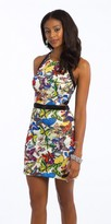Camille La Vie Butterfly Beaded Cut Out Cocktail Dress