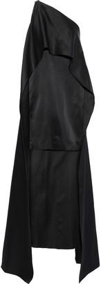 Narciso Rodriguez Cape-effect Silk-charmeuse Mini Dress