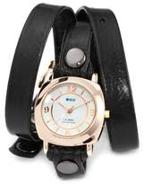 La Mer Women's LMODY004 Black Rose Gold Odyssey Wrap Watch