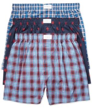 Tommy Hilfiger Men's 3 Pack Woven Cotton Boxers