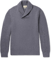 Hackett - Shawl-collar Wool, Yak And Cashmere-blend Sweater
