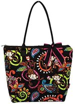 Monkey IslandTM Print Quilted Medium Tote Bag (Brown) by NGIL