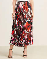 Emilio Pucci Pleated Floral Maxi Skirt