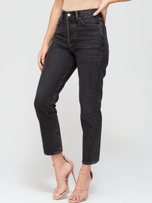 Very Studio Slim Straight Leg Jean - Washed Black