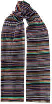 Missoni Striped Metallic Crochet-knit Wrap - Black