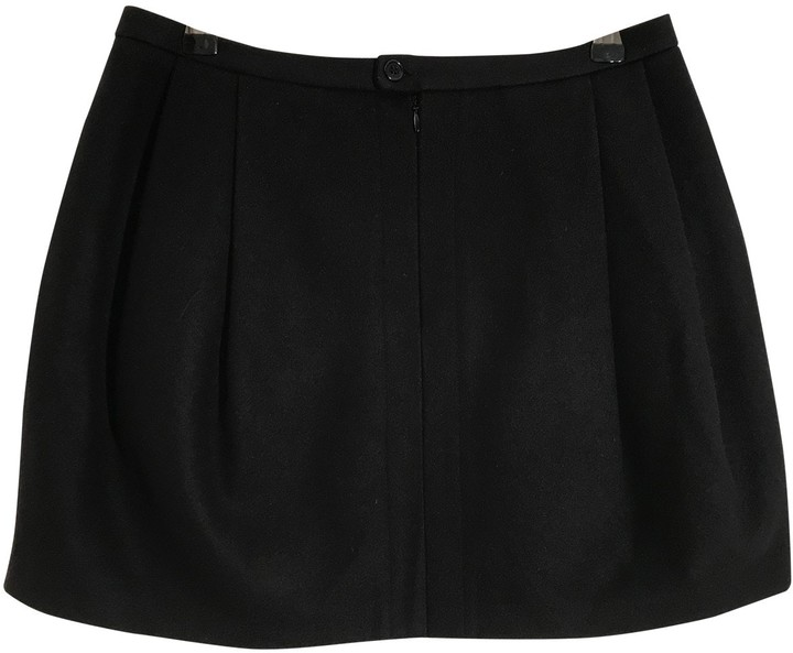 Mads Norgaard Mads Nrgaard Black Wool Skirt for Women