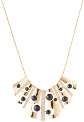 Trina Turk Cut-Out Bib Necklace W/ Pave