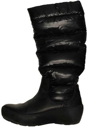 Moncler Black Rubber Boots