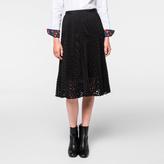 Paul Smith Women's Black Polka Dot Pleated Skirt