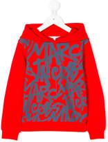 Little Marc Jacobs logo graffiti hoodie