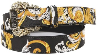 Versace Jeans Couture Couture Belt With Baroque Logo Print