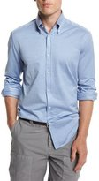 Brunello Cucinelli Solid Long-Sleeve Sport Shirt, Powder Blue