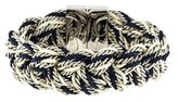 Tory Burch Braided Fabric & Chain Bracelet
