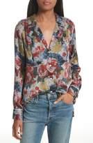 Equipment Women's Sonny Floral Silk Pj Top