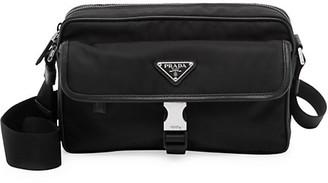 Prada Tessuto & Saffiano Crossbody Bag