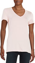 Lord & Taylor Petite Stretch-Cotton V-Neck Tee