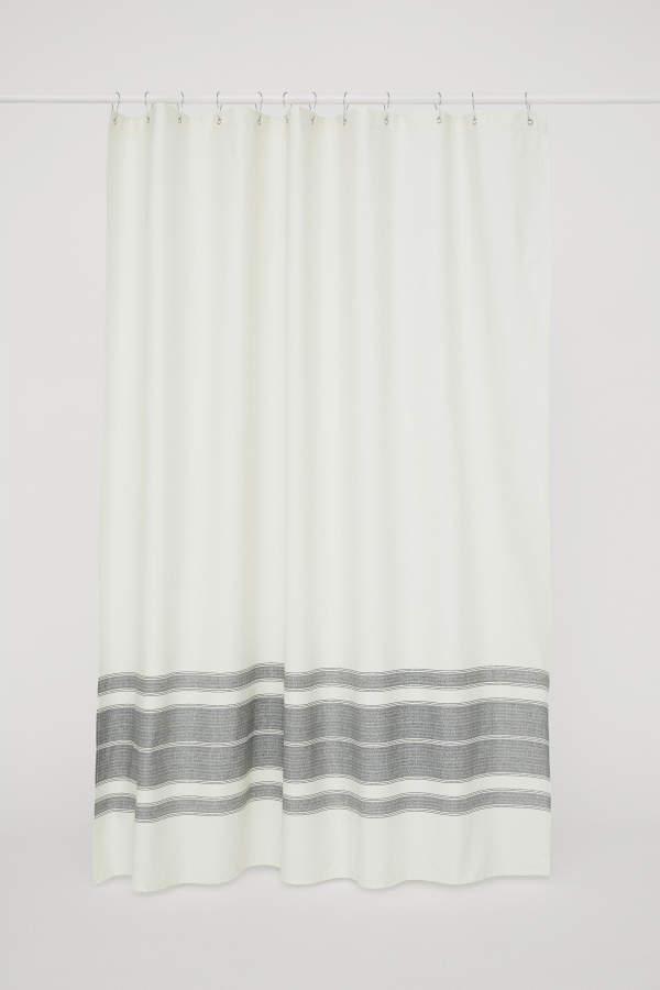 H&M Cotton Shower Curtain - White/striped