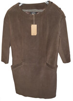 APC brown Leather Dresses