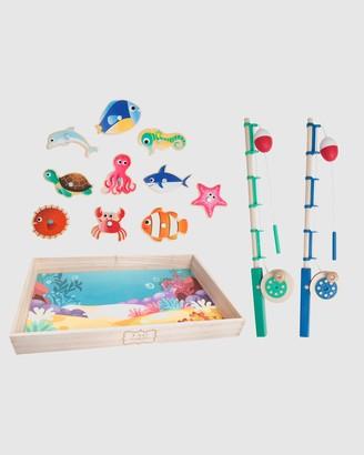 F.A.O Schwarz Toy Wood Fishing Set