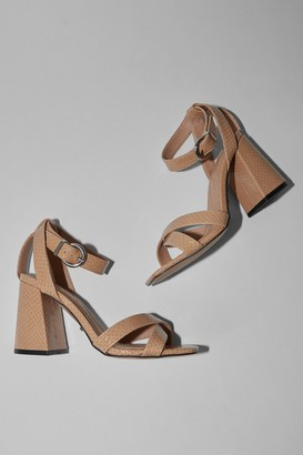 Topshop SACHA Natural Ankle Tie Block Heel Sandals