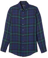 Banana Republic Dillon-Fit Plaid Rounded-Collar Flannel Shirt