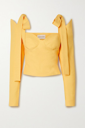 ALEKSANDRE AKHALKATSISHVILI Cold-shoulder Twill Blouse - Yellow