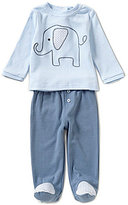Wendy Bellissimo Baby Boys 3-9 Months Elephant-Appliqued Top & Solid-Footed Pant Set