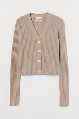 H&M Ribbed cashmere-blend cardigan