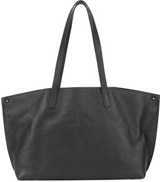 Akris pebbled leather tote bag
