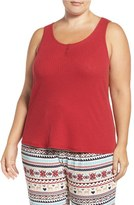 PJ Salvage Plus Size Women's Ribbed Jersey Tank