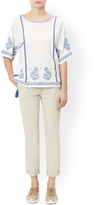 Monsoon Cary Embroidered Boho Top