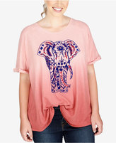 Lucky Brand Trendy Plus Size Elephant Graphic T-Shirt